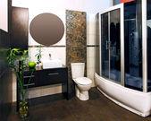 Bamboe badkamer — Stockfoto