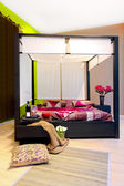 Canopy bedroom — Stock Photo