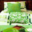 Green bed 2 — Stock Photo