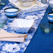 Blue tabletop — Stock Photo