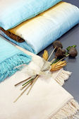 Blankets decor — Stock Photo
