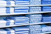 Blue towels — Stock Photo