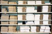 Towels shelf — Stock Photo