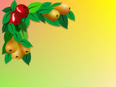 Fruit Border — Stock Photo