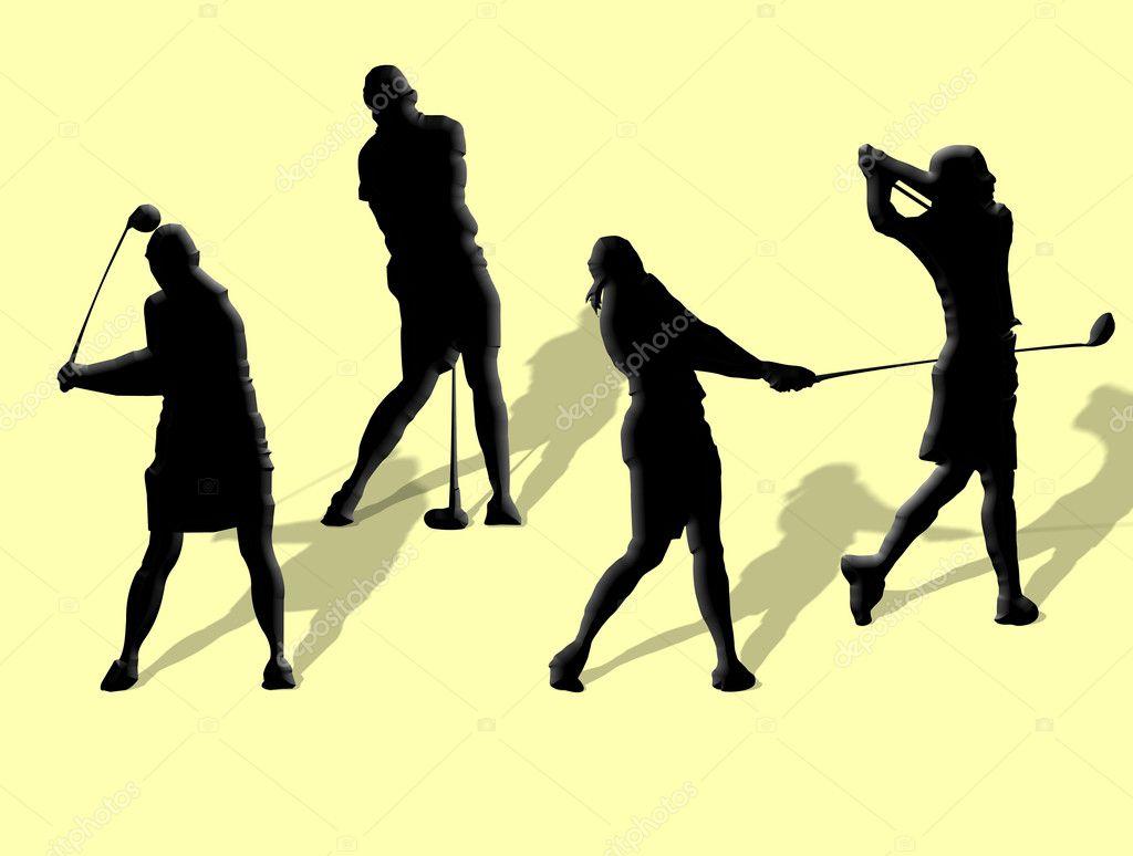 Swing Ladies Golf Clip Art
