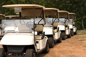 Golf Carts Ready — Stock Photo