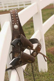 Guns on the Fence — Stock Photo