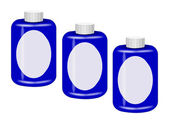 Three Blue Containers — Stock Photo