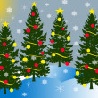 Four christmas threes — Stock Photo #2050314
