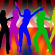 Stock Photo: Dancing girls