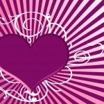 Purple heart — Stock Photo