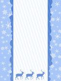 Fundo de Natal com veados — Fotografia Stock