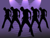 Five dancing men — Stock Photo