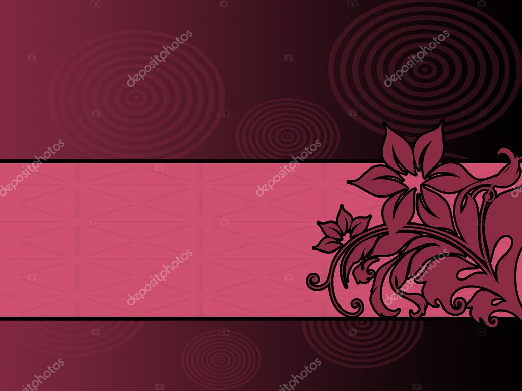 Purple floral ornament — Stock Photo #2050084
