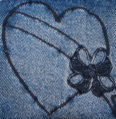 Denim Heart 4 — Stock Photo