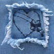 Stock Photo: Denim Heart 3