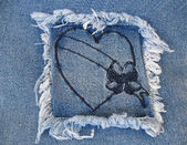 Denim Heart 2 — Stock Photo