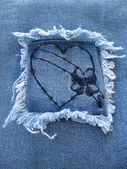 Denim Heart 3 — Stock Photo