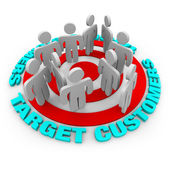 Target Customers - Red Target — Stock Photo