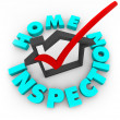 Home Inspection - Check Box - Foto de Stock