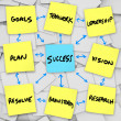 Success in Organization - Sticky Notes — стоковое фото #2038676