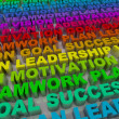 Royalty-Free Stock Photo: Principles of Success - Colorful Words