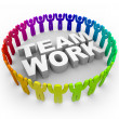 Royalty-Free Stock Photo: Colorful Around Word Teamwork