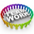 Colorful Around Word Teamwork - Stock Photo