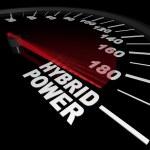 Hybrid Power - Speedometer — Stock Photo
