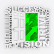 Open Door to Success - Positive Qualities - Stock Photo