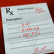 Prescription Form - Get Fit - Foto Stock