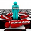 图库照片: Embrace or Reject Change