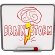 Brainstorm - Dry Erase Board with Red Marker - 图库照片