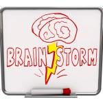 Burza mózgów - dry usunąć forum z czerwonym znacznikiem — Zdjęcie stockowe