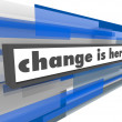 Stock Photo: Change is Here - Abstract Blue Bar