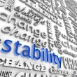Foto de Stock  : Finding Stability in Midst of Change