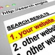 Search Engine Results - Your Site Number One — Stock Photo