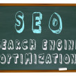 SEO Search Engine Optimization - Words on Chalkb — Stock Photo #2039200