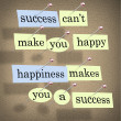 Stock Photo: Success Can't Make You Happy - Happiness Makes Y