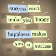 Success Can't Make You Happy - Happiness Makes Y - Stock Photo