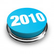 2010 - Blue Button — Stock Photo #2039291