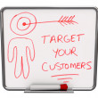 Target Your Customers - Dry Erase Board - Stock Photo
