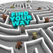 Find Your Way Through a Maze — Stock Photo