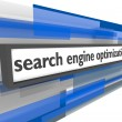 Search Engine Optimization Bar — Stock Photo