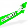 Riding the Arrow of Recovery — Stock Photo