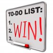 To-Do List - Win - Dry Erase Board — Stock Photo