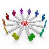 Competitors Aiming for the Same Goal — Stock Photo