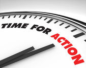 Time for Action - Clock — Foto Stock