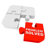 Puzzle Pieces - Problem Solved — Stock Photo