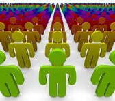 彩虹的颜色-不同群体 — 图库照片